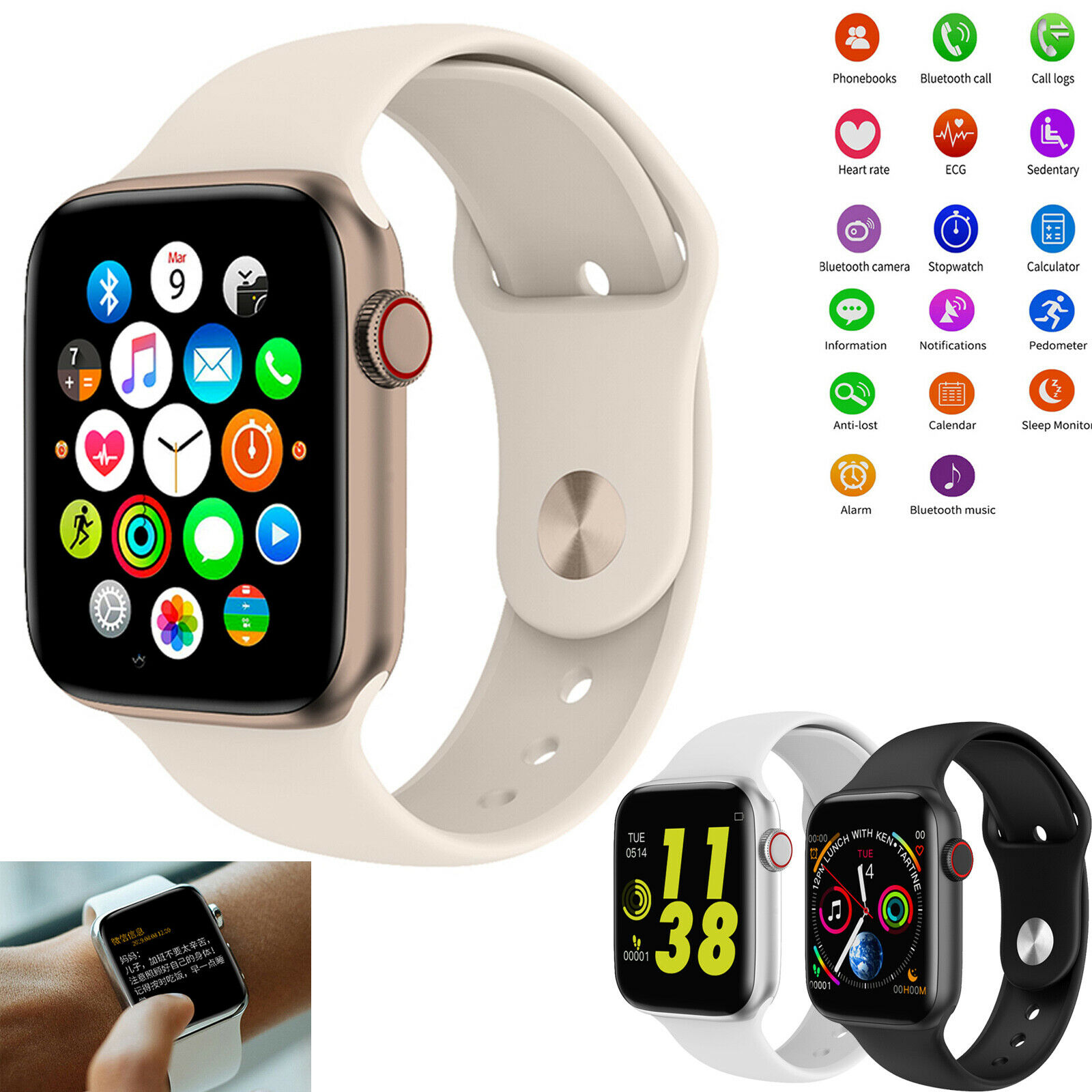 Bluetooth Smart Watch Heart Rate Sport Wrist Watch For Android Samsung LG iPhone android bluetooth Featured for heart rate samsung smart sport watch wrist