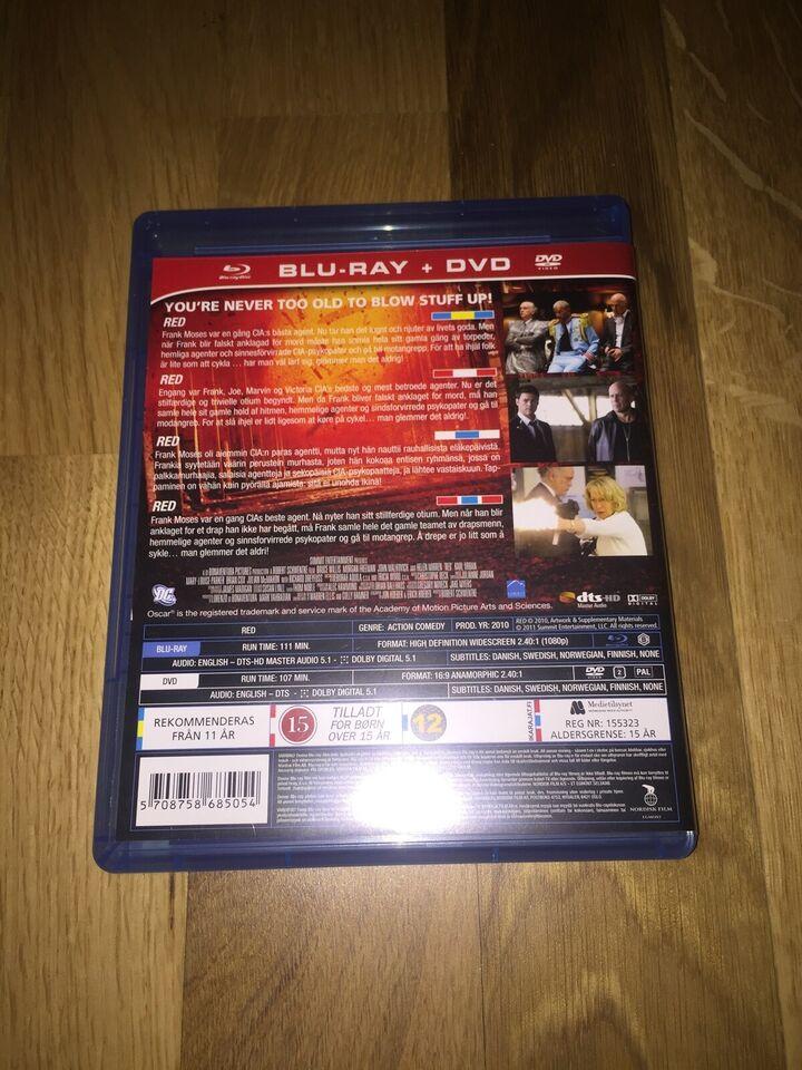 Red, instruktør Robert Schwentke, Blu-ray