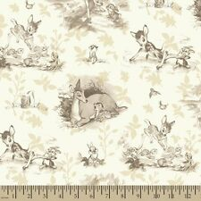 Springs Licensed Disney 50667 Vintage Bambi Sepia Tones  FREE US SHIP Cotton BTY
