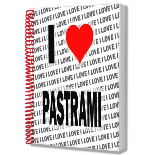I Love Pastrami A5 Notebook Pad Diary Drawings Birthday Christmas Gift