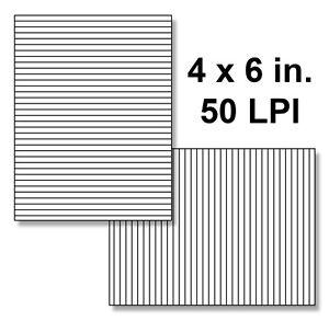 Lenticular-Blank-Lenses-Pk-of-10-50-LPI-4x6-in-w-Adhesive-LL50LPI-4X6A-10