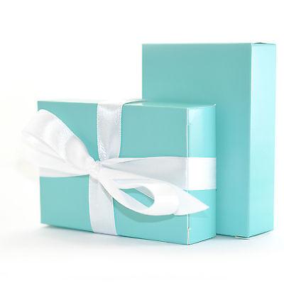 """The Finest Quality & Pre-Glued"" 50 x TIFFANY BLUE Wedding Cake Box Favour Gift"