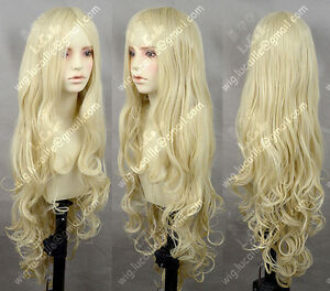 10c09be7211 New Long Milk Blonde Wavy Lolita Princess Party Cosplay Wig 100CM ...