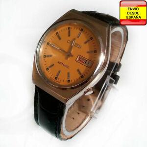 Detalles de Reloj Citizen Automatic cuerda manual 21 Jewel crema vintage