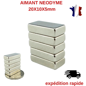 AIMANT-NEODYME-RECTANGLE-20X10X5mm-LOT-DE-10-PCS