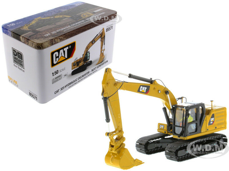 Cat CATERPILLAR 323 Pelle hydraulique avec conducteur 1 50 par Diecast Masters 85571