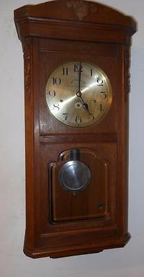 oak cased westminster chimes wall clock c 1930s
