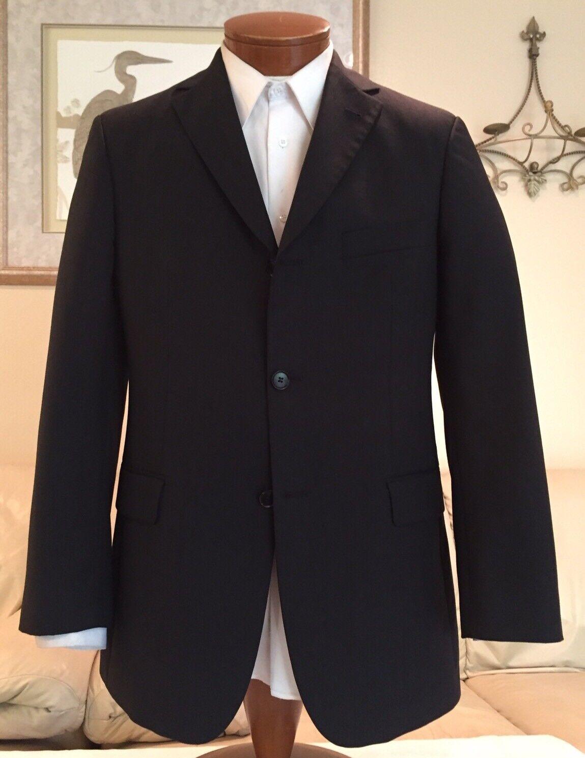 Hugo Boss Uomo Gris 3 100s 3 Gris Btn Flat Front Wool Suit Sz 36 R MINT  9ef6f8