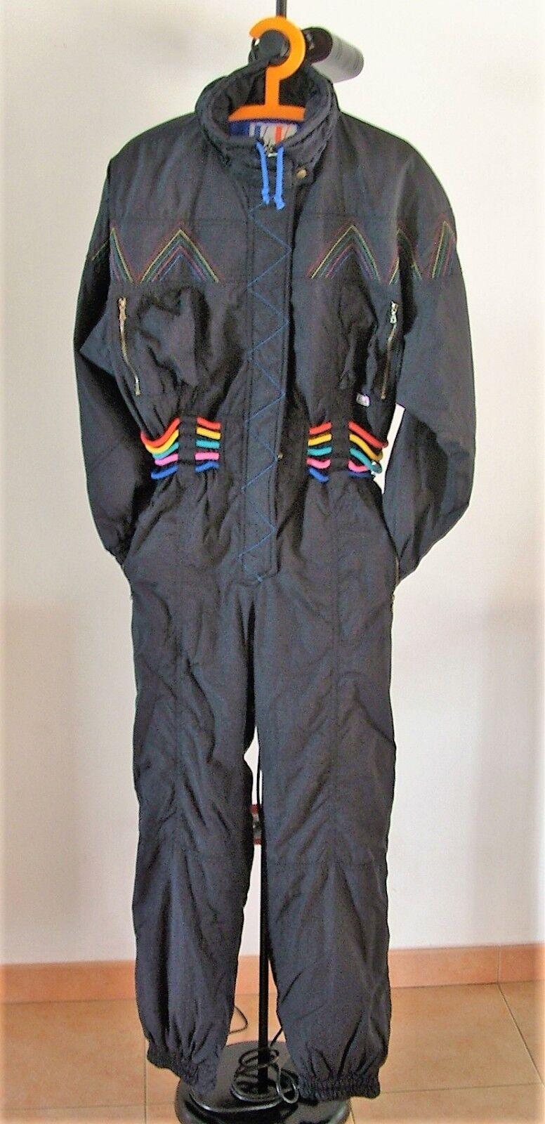TRAJE esquí Vtg V DE V anni 80 Ski Suit Unisex Talla L