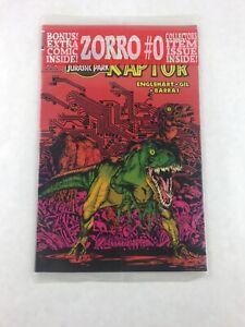 Raptor-Jurassic-Park-1-of-2-Comic-Book-Bonus-Zorro-0-Comic-Topps-Comics