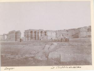 Egypte-Luxor-Le-Temple-de-bateau-Vintage-print-Tirage-citrate