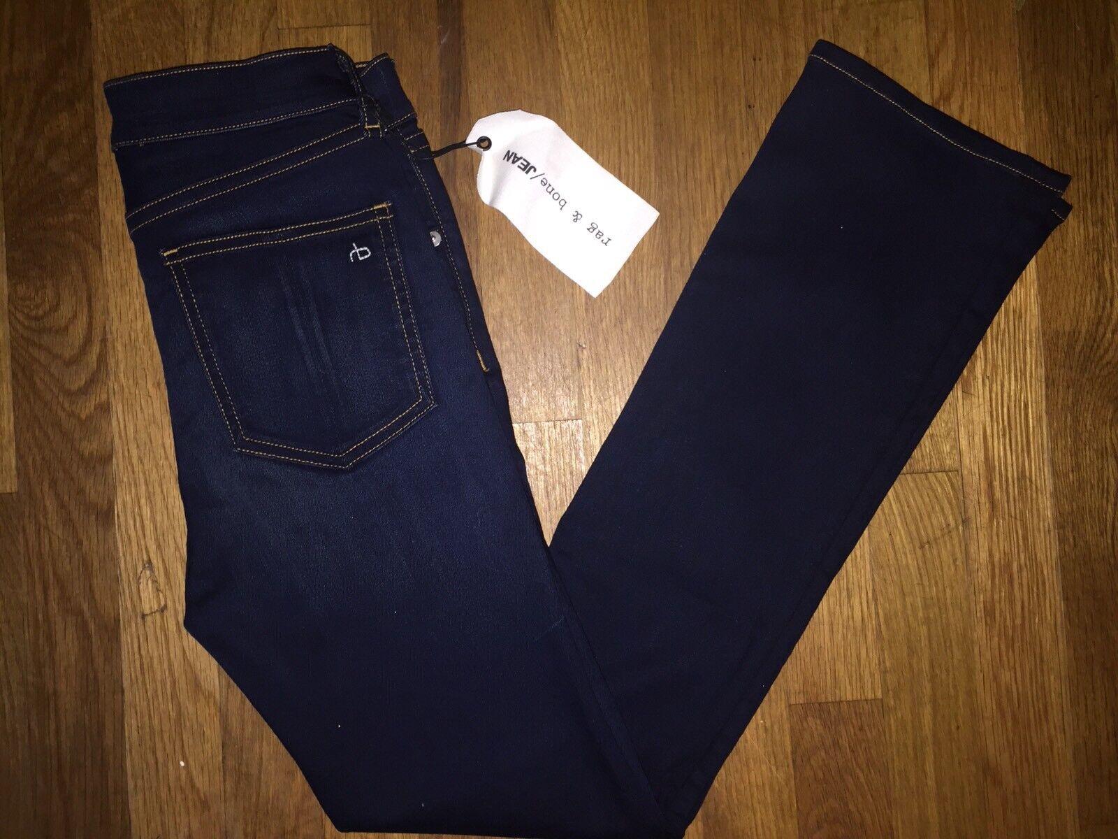 NOUVEAU  Neuf avec étiquettes RAG & BONE Jean Hana taille haute CROP jeans Bedford taille 25