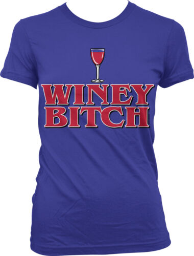 Winey Bitch Wine Drinking Drunk Wasted Alcohol Funny Juniors T-shirt
