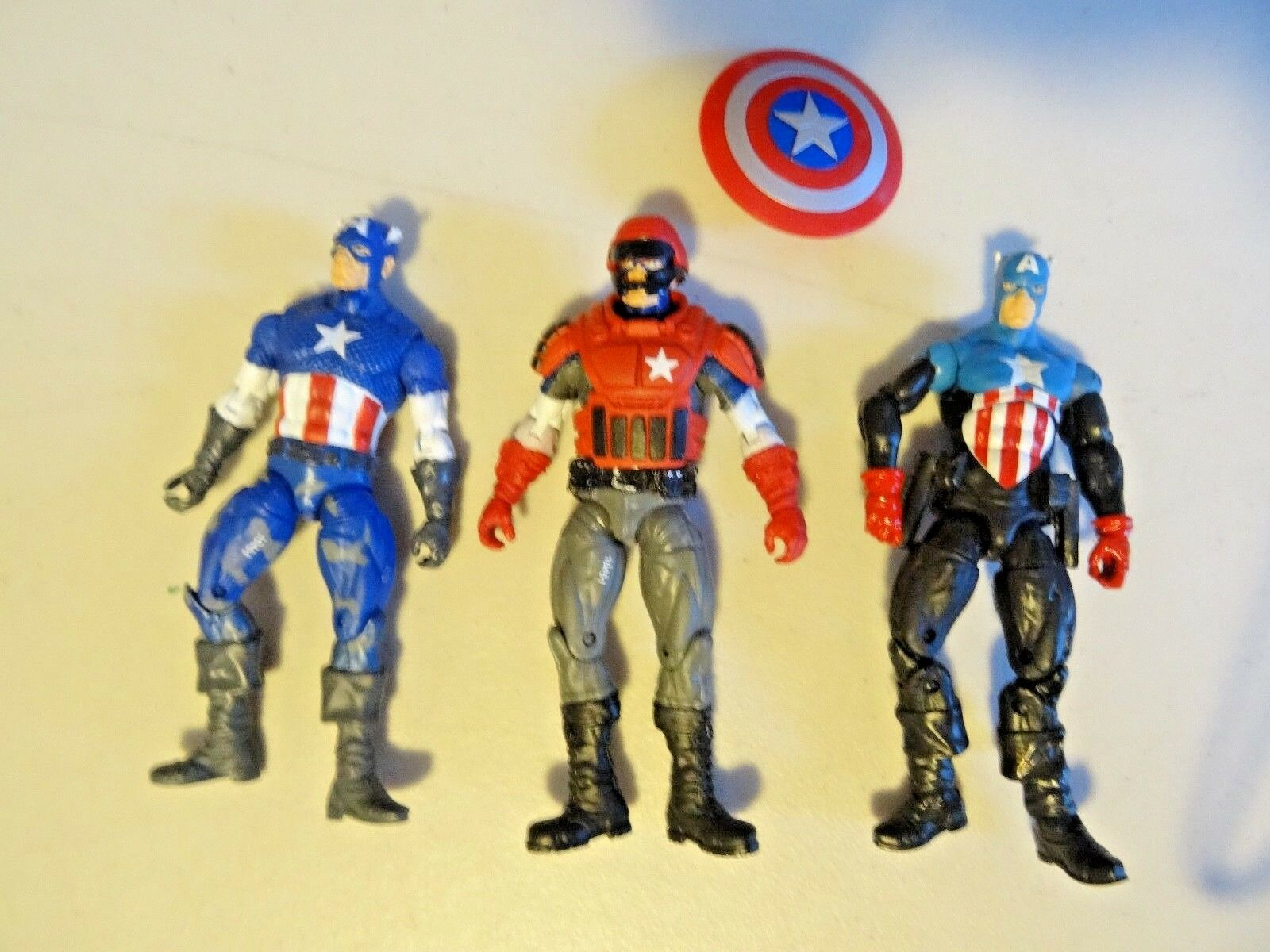 LOT OF AMERICA 3 marvel legends CAPTAIN AMERICA OF Action Figure 3.75 inch  418 MUST SEE f88543