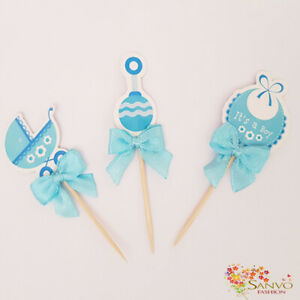 CAKE-TOPPERS-BABY-BOY-GIRL-SHOWER-BIRTHDAY-PARTY-CUPCAKE-CAKE-TOPPERS-PICKS