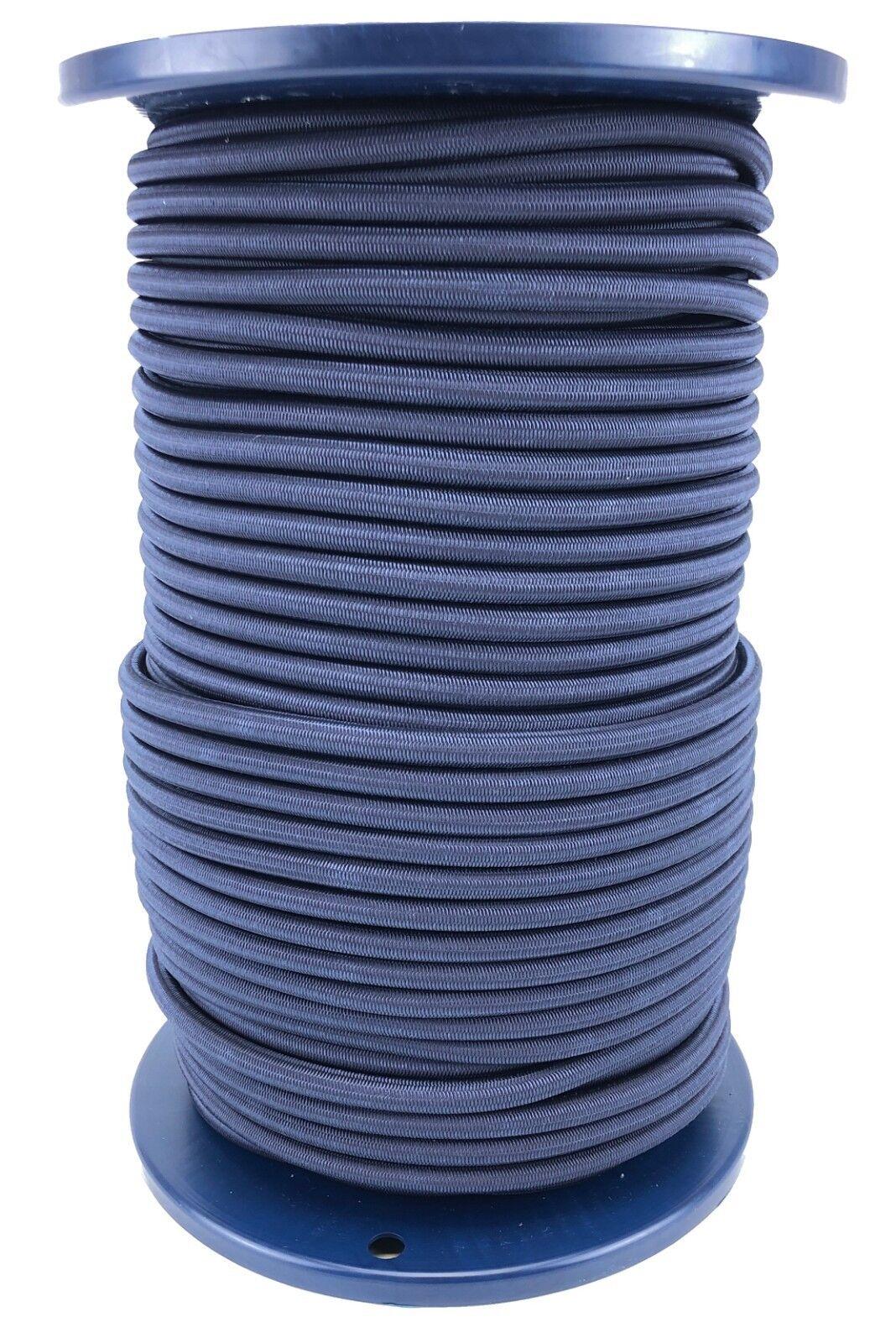 12mm Marineblau Elastischer Gummizug Seil X 25 Meter Krawatte Unten