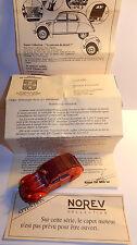 NOREV CITROEN 2CV AZ 1955 SAPEURS POMPIERS STE FOY LES LYON 1/43 BOX + COURRIER