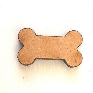 Wooden DOG BONE Shape Craft Blank DOG BONE Embellishments DOG BONE 10 Pack