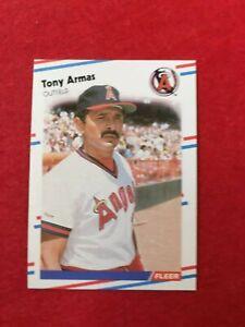BASEBALL-TRADING-CARD-FLEER-1988-484-TONY-ARMAS-SS63