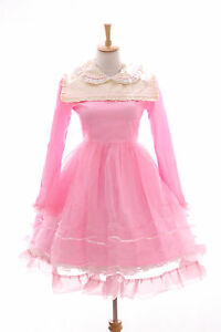 Lolita 565 Jl 2a Babydoll Costume Vestito Cosplay Dolce Giappone Fucsia Gothic qSHgnwHaO