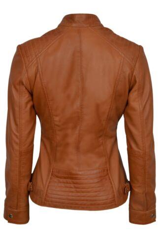 luxe de nouvelle dames Tan Veste de en Style Casual Nappa cuir Real Design qZAqR