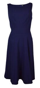 Marc New York Women's Scoop Neck Sleeveless Flared Dress (2, Nightfall)