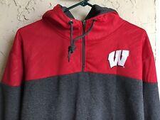 item 5 Wisconsin Badgers Men s 1 4 Zip Pullover HoodIe~Men s XL~NCAA~Campus  Heritage -Wisconsin Badgers Men s 1 4 Zip Pullover HoodIe~Men s XL~NCAA~ Campus ... 95df795dc