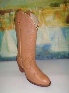 Vintage Acme Acme Vintage Tall Tan Leder Cowboy Western Stiefel Damenschuhe Größe 7M     a23d0a