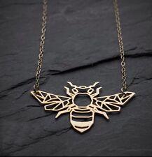 Origami Geometric BEE Necklace. Honeybee Jewellery.