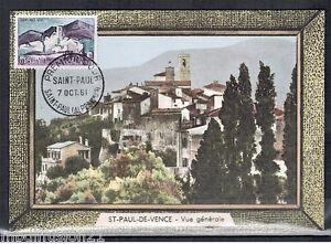 FDC-CP-1-JOUR-ST-PAUL-DE-VENCE-OBL-ST-PAUL-1961-TIMBRE-Y-T-1311