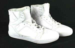 Supra-Skytop-Muska-001-Men-039-s-White-Sz-10-shoes-Hightop-skate-shoes-ankle-supt