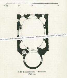 Landsberg am Lech : Johanniskirche - Grundriss der Kirche - um 1920      T 2-8
