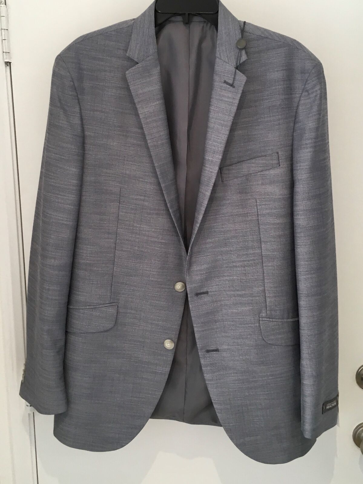 Kenneth Cole Reaction  Collection Charcoal grau  Blazer 42L NWT