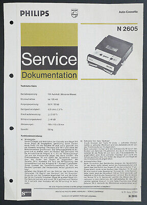 Service Manual-Anleitung für Philips N 2605