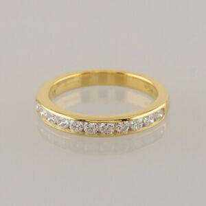 Tiffany-amp-Co-Diamond-Wedding-Band-Ring-18ct-Yellow-Gold-Size-J