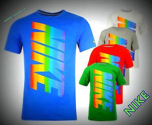 New Boys Junior Nike T Shirt Rainbow Top Size Age Ffrom 7