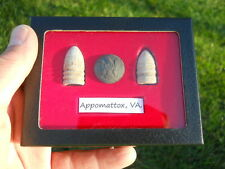 Old Rare Antique Civil War Relic Bullets Button CSA & US Miniballs Appomattox VA