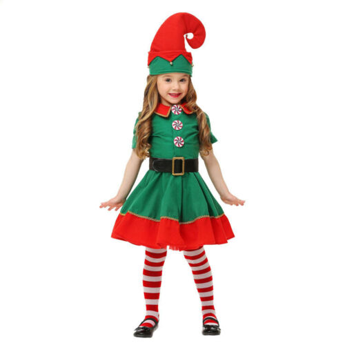 Cleanranc Christmas Elf Costumes Christmas Outfit Cosplay Party Costume Dress Up