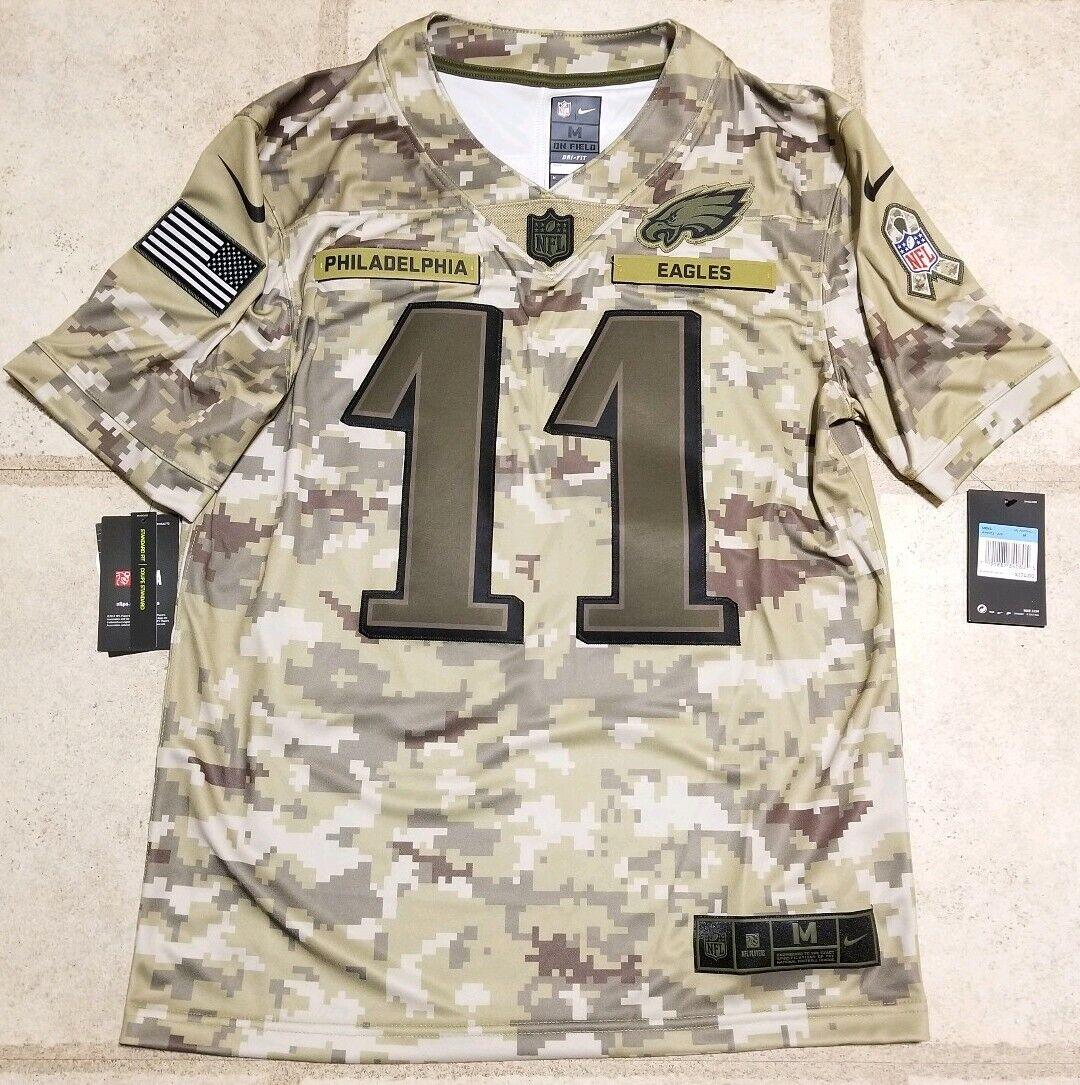 Nike Salute to Service Carson Wentz Philadelphia Eagles Jersey Ah4951 336 Size M