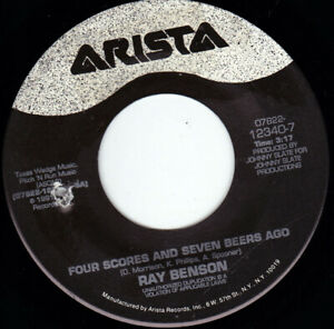"""RAY BENSON - Four Scores And Seven Beers Ago 7"""" 45"""