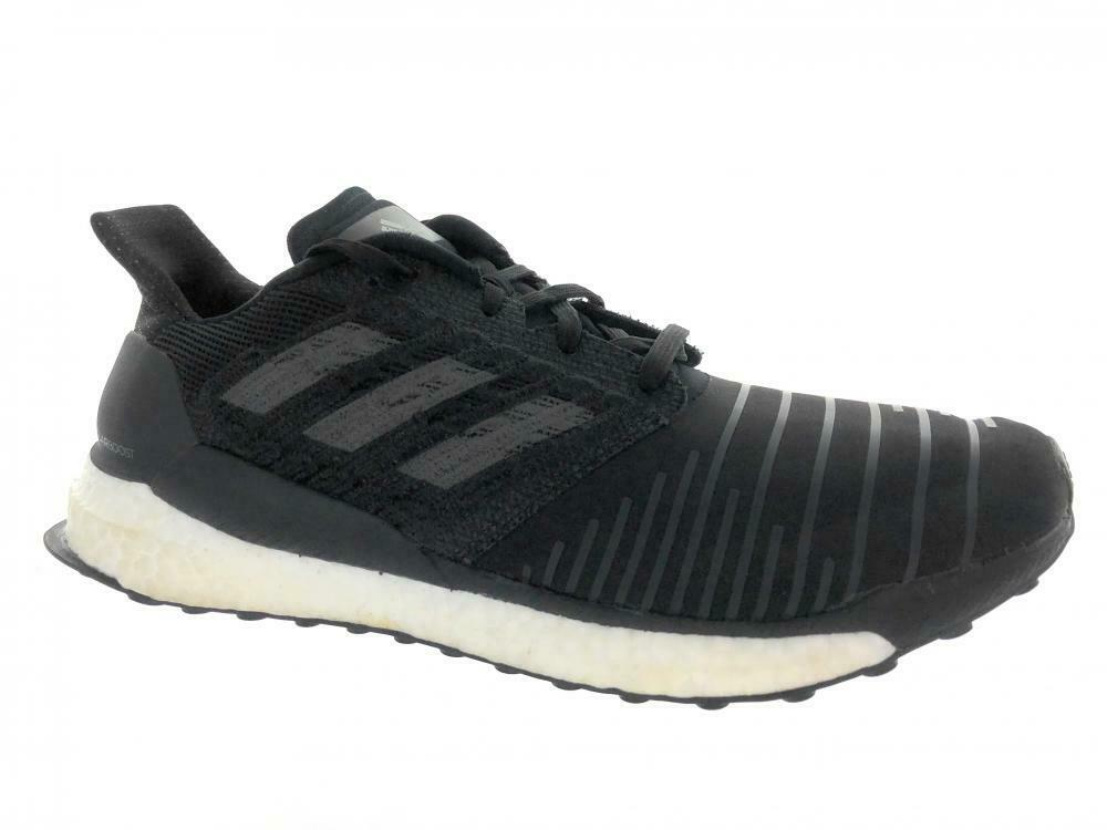 Men's Adidas SolarBoost Running Athletic shoes CQ3171 Black Grey Size 13