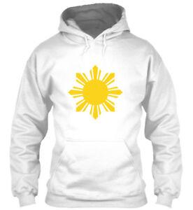 Details About Philippines Flag Sun Filipino Pride Ph Gildan Hoodie Sweatshirt