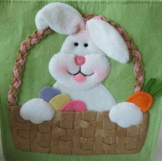 FELT Easter Gift Bags Treat Bag Party Filler Favor Chocolate Eggs Egg Handle