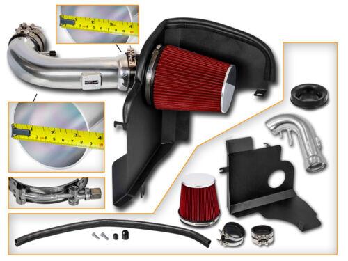 BCP RED 11-14 Ford Mustang GT 5.0 V8 Cold Shield Air Intake Kit Filter