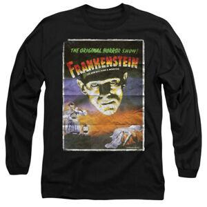 UNIVERSAL-MONSTERS-FRANKENSTEIN-Licensed-Adult-Men-039-s-Long-Sleeve-T-Shirt-SM-3XL