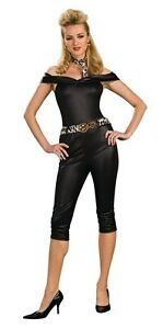 Image is loading 50-039-s-Rebel-Chick-Black-Sandy-Grease-  sc 1 st  eBay & 50u0027s Rebel Chick Black Sandy Grease Dress Up Sexy Adult Halloween ...