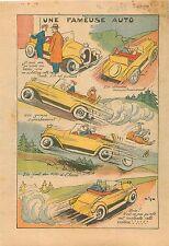 Caricature dessin de Cyp Vitesse Voiture de Tourisme de Course 1932 ILLUSTRATION