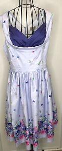 Nuevo-CON-ETIQUETAS-Lindy-Bop-Vintage-Style-Ofelia-Purpura-Floral-Vestido-Talla-18-decada-de-1950