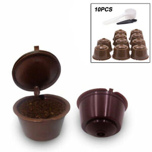 10Pcs-Refillable-Reusable-Coffee-Capsule-Pods-Cups-Set-For-Nescafe-Dolce-Gusto