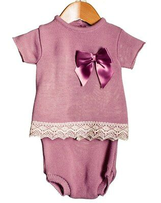 Girls Pink /& Lemon Spanish Knitted Ribbon Jam Pants Sets